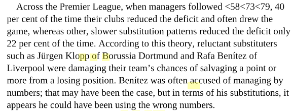 From 'The Numbers Game: Why Everything You Know About Football is Wrong' by C. Anderson & D. Sally.